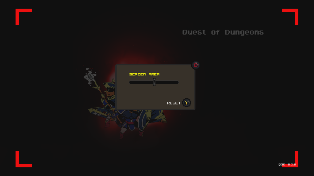 Quest of Dungeons Xbox screen area